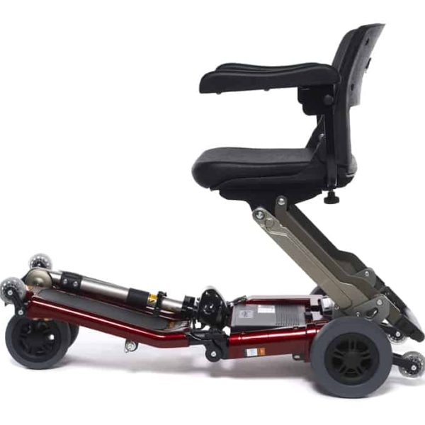 Red Luggie Elite Folding Mobility Scooter