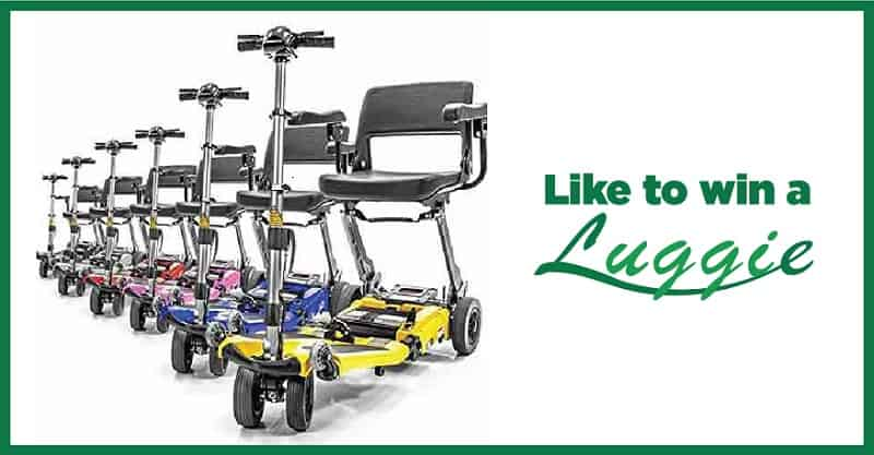Win A luggie Folding Mobility Scooter