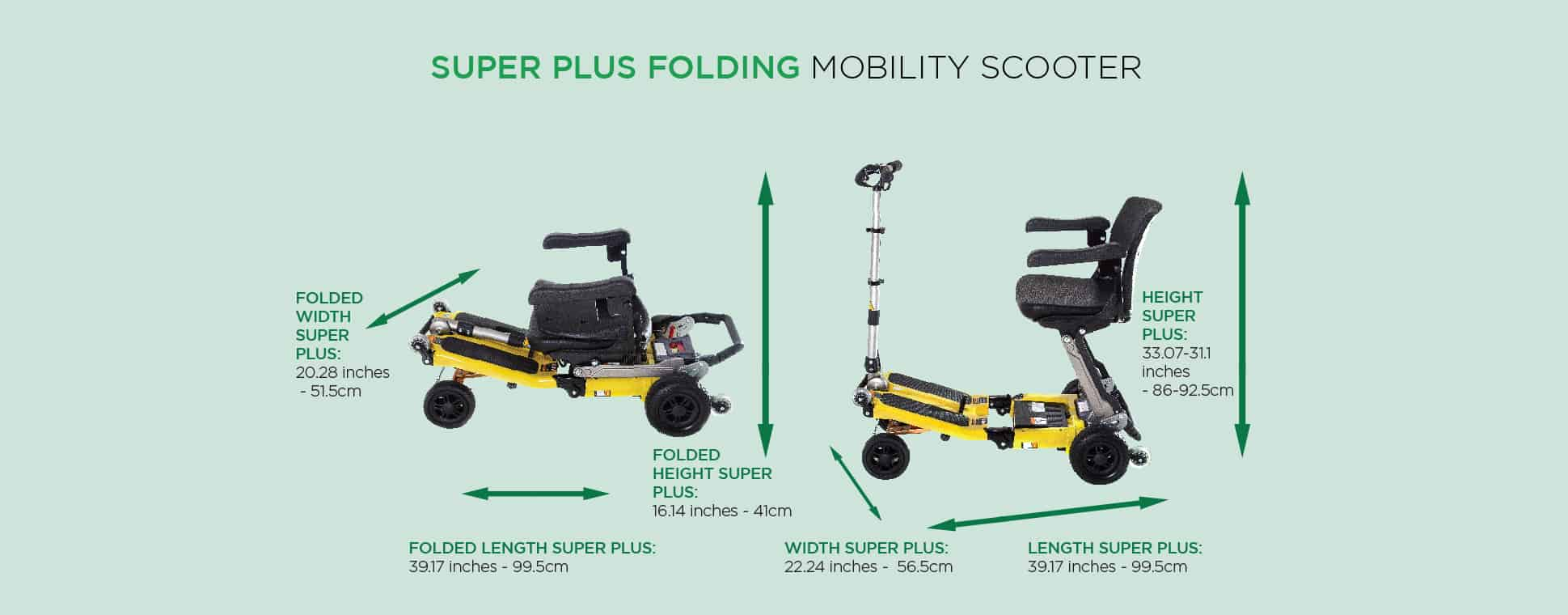 Super Plus Folding Mobility Scooter